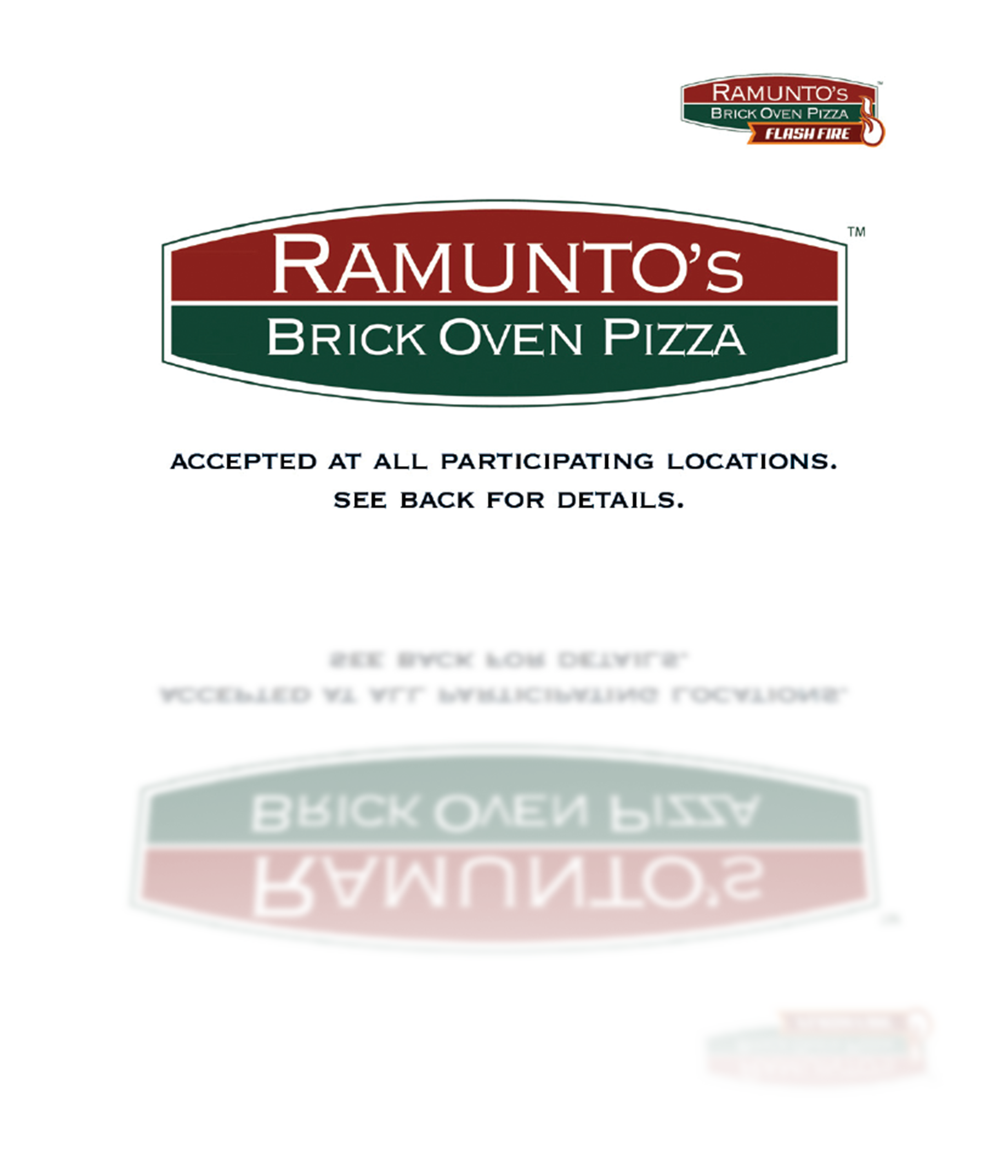 Ramuntos Pizza gift card